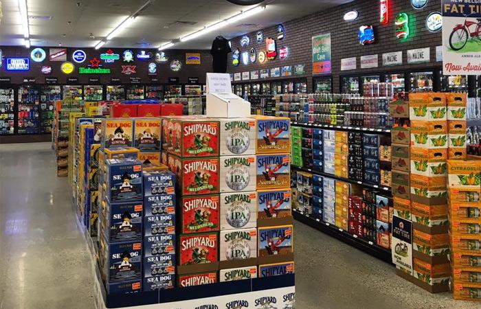 liquor store interior