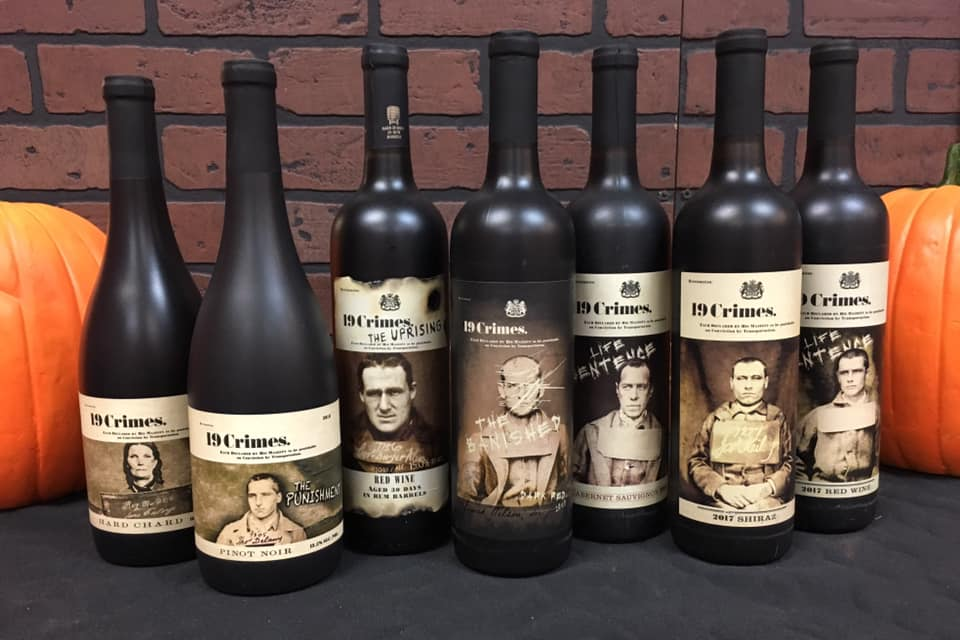 19 Crimes wine bottles, 19 crimes wine, world class wines new hampshire, wine beer and spirits New Hampshire